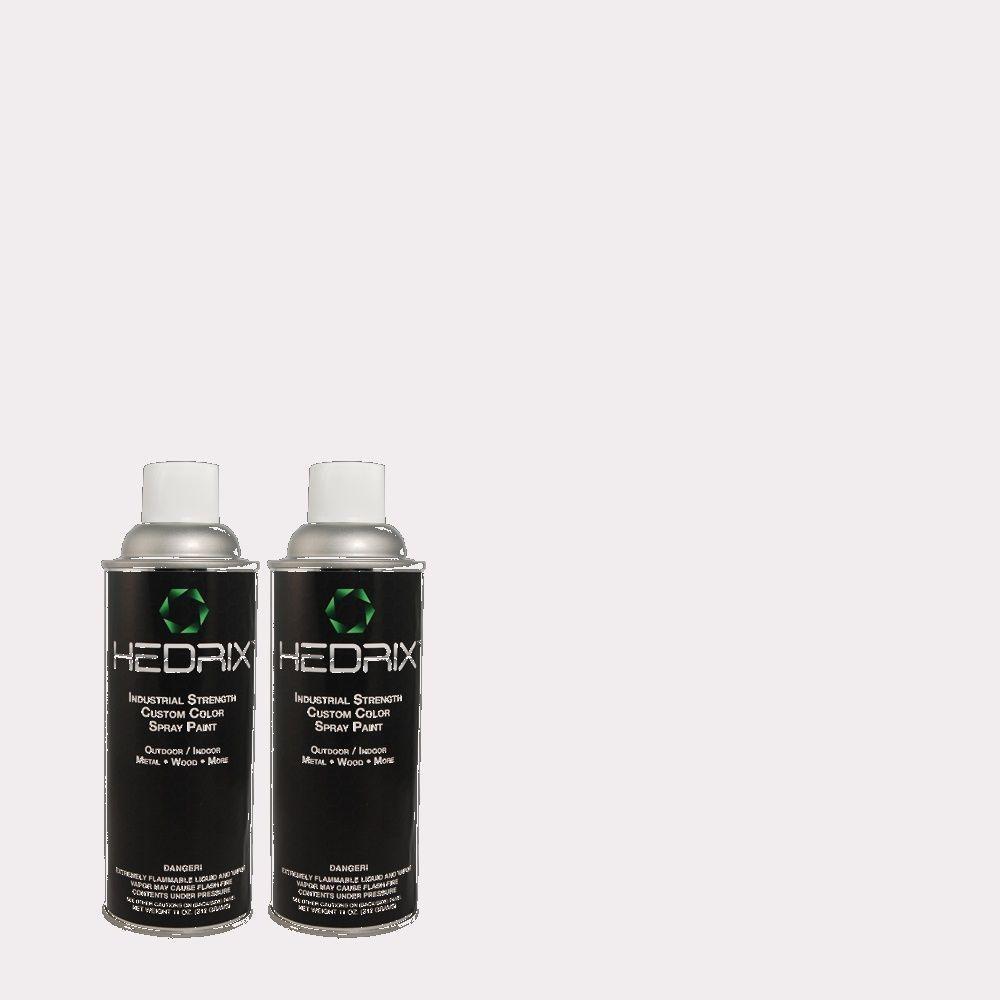 Hedrix 11 oz. Match of 630A-1 Amethyst Cream Semi-Gloss Custom Spray Paint (2-Pack)