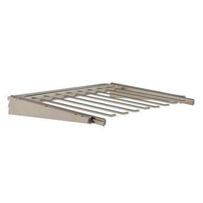 Closet Culture 16.625 in. D x 23.75 in. W x 2.875 in. H Pants Rack Kit Steel Closet System in Champagne Nickel