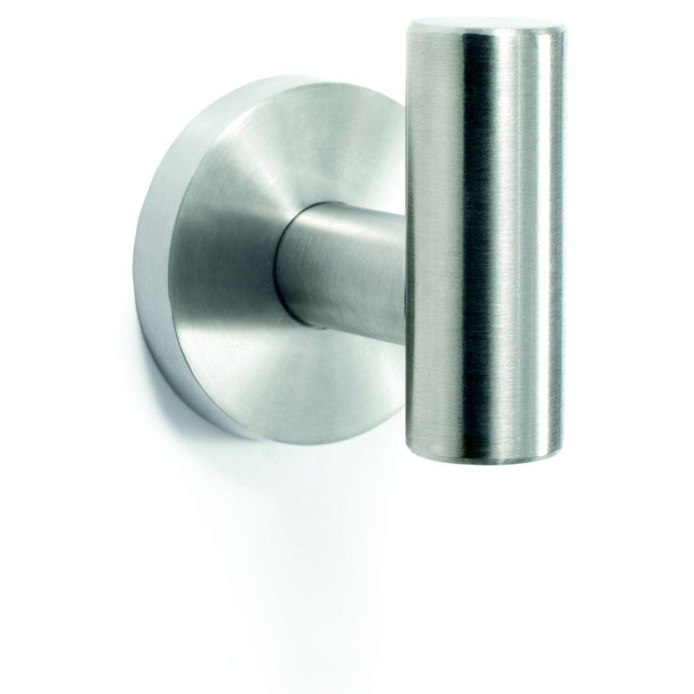 Arrondi Wall Mount Single Robe Hook in Stainless Steel