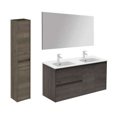 47.5 in. W x 18.1 in. D x 22.3 in. H Bathroom Vanity Unit in Samara Ash with Mirror and Column