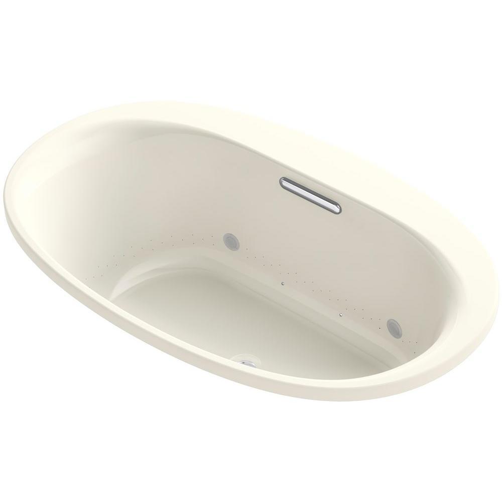 Underscore 5 ft. Air Bath Tub in Biscuit