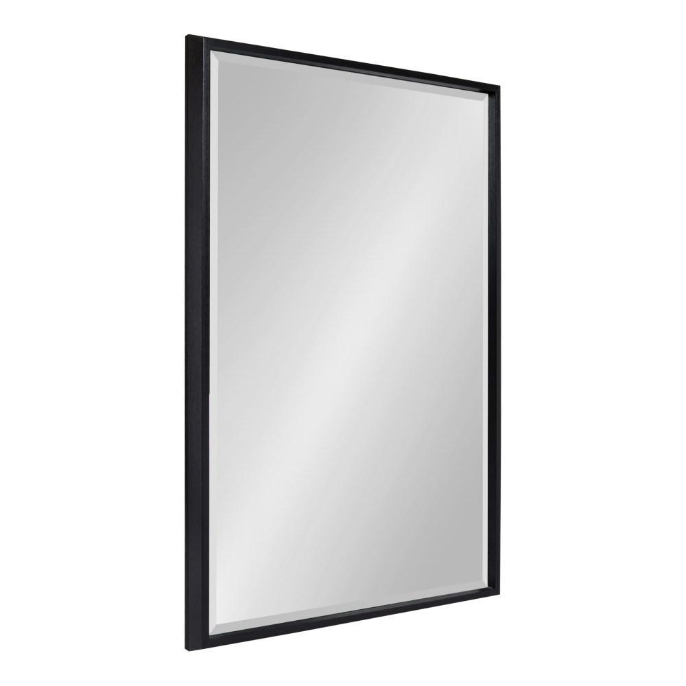 Kate and Laurel Blake Rectangle Black Wall Mirror 214049