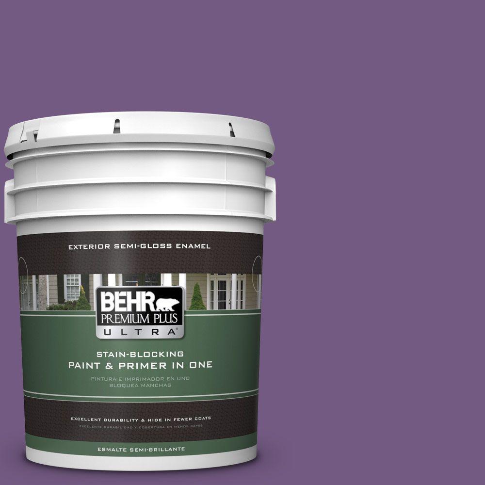 5-gal. #650B-7 Mystical Purple Semi-Gloss Enamel Exterior Paint