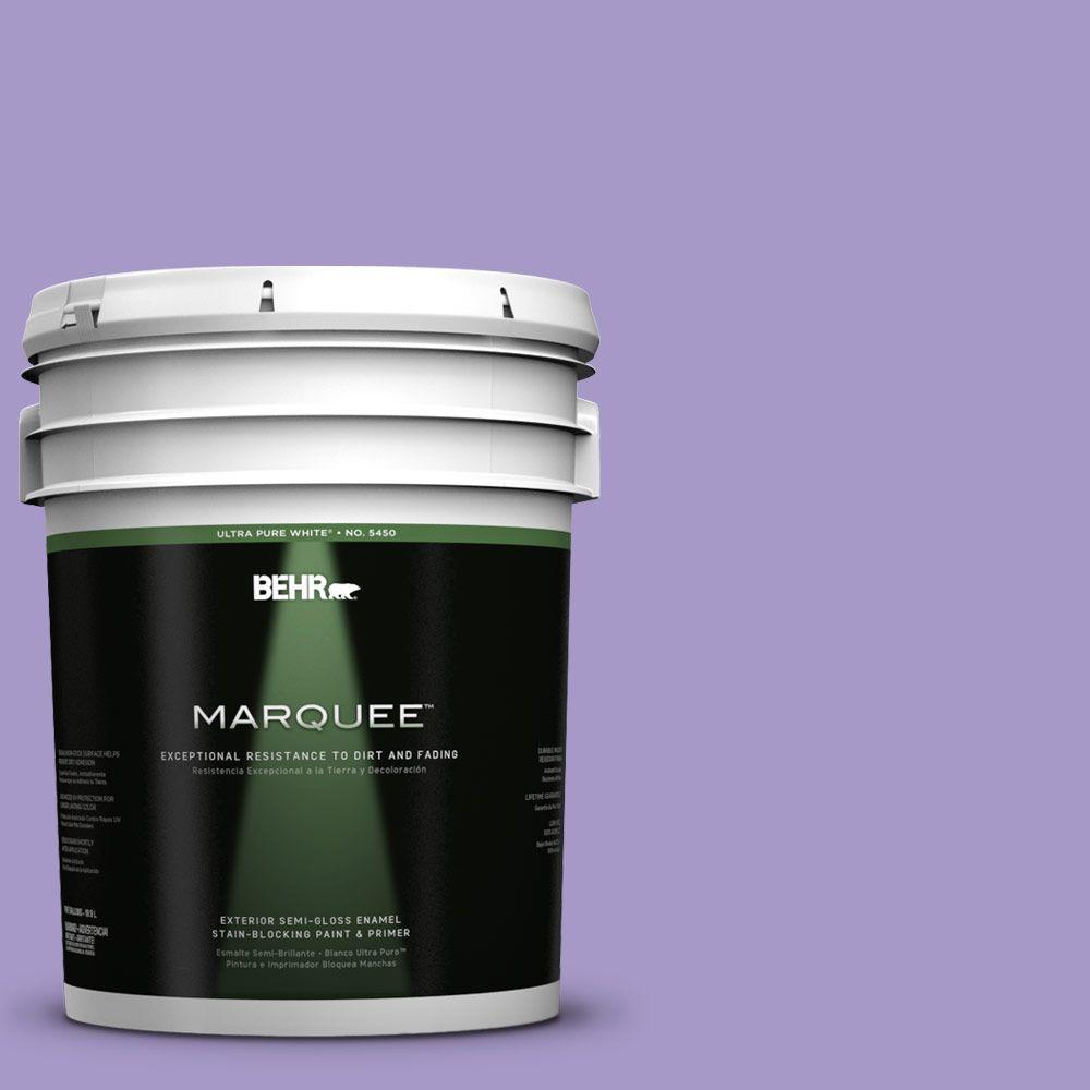 BEHR MARQUEE 5-gal. #640B-5 Bloomsberry Semi-Gloss Enamel Exterior Paint