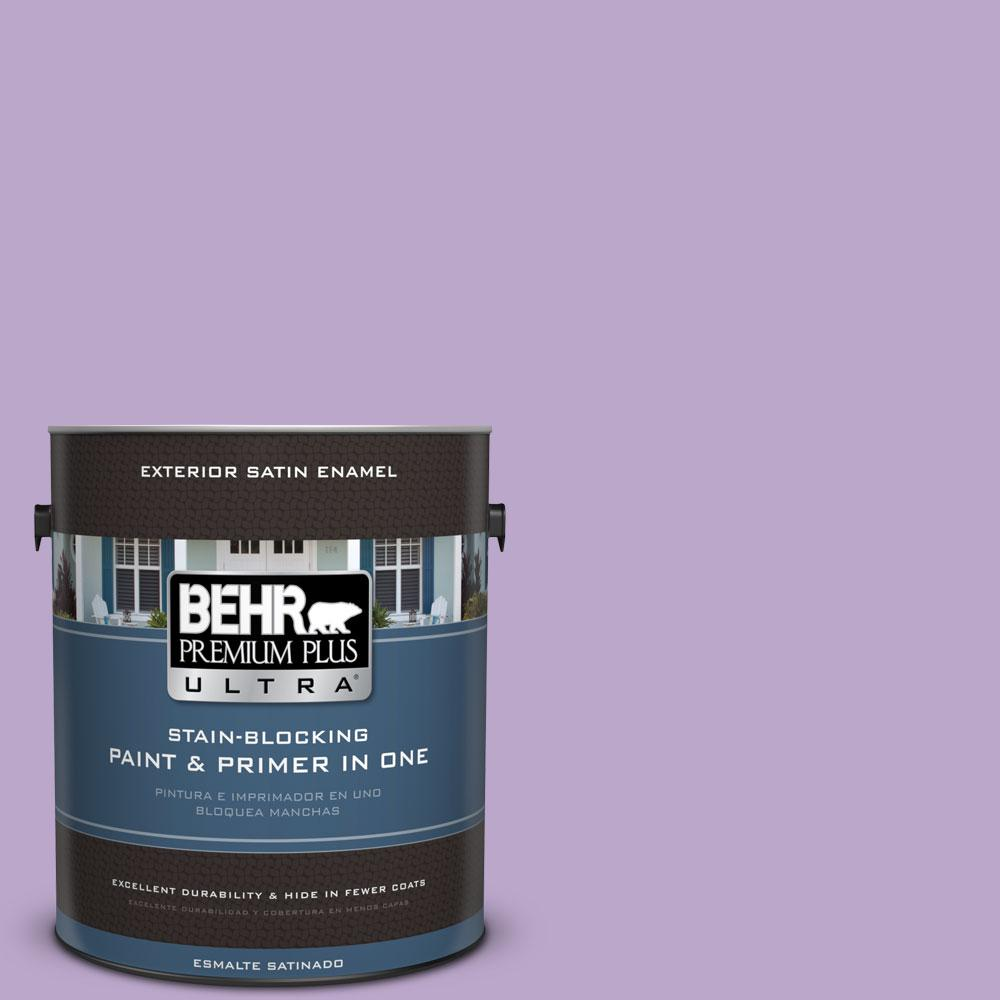 BEHR Premium Plus Ultra 1-gal. #M570-4 Cyber Grape Satin Enamel Exterior Paint