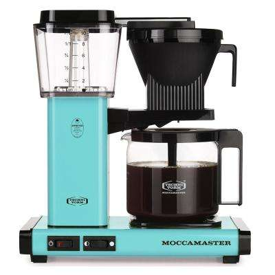 KBG 10-Cup Turquoise Drip Coffee Maker