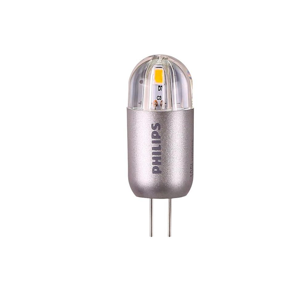 Philips 20w Equivalent Bright White G4 Capsule Led Light Bulb 458513 The Home Depot