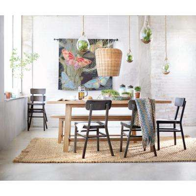 Jacob black aluminum stacking side chair set of 2