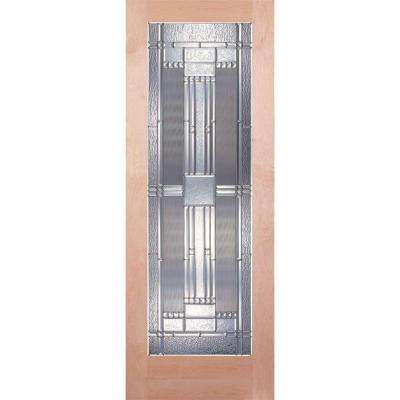 Preston Zinc Woodgrain 1 Lite Unfinished Cherry Interior Door Slab