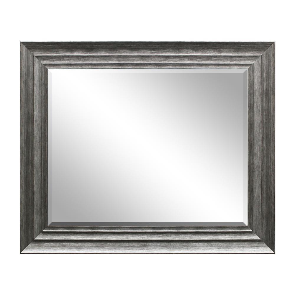 Silver Decorative Mirror Large Framed Bathroom Vanity Living Room ...