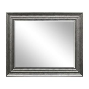 29.5 inch x 35.5 in Silver Decorative Mirror by