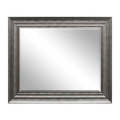 29.5 in. x 35.5 in Silver Decorative Mirror