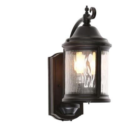 Ashmore Collection Wall Mount 2-Light 15 in. Outdoor Antique Bronze Wall Lantern Sconce