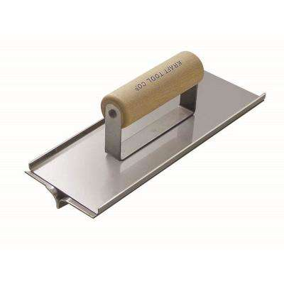 10 in. x 3.5 in. Stainless Steel Hand Groover - Wood Handle