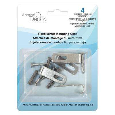 Fixed Mirror Mounting Clips (4-Pack)