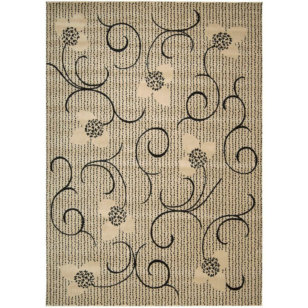 Nourison Overstock Expressions Ivory 7 ft. 9 in. x 10 ft. 10 in. Area Rug