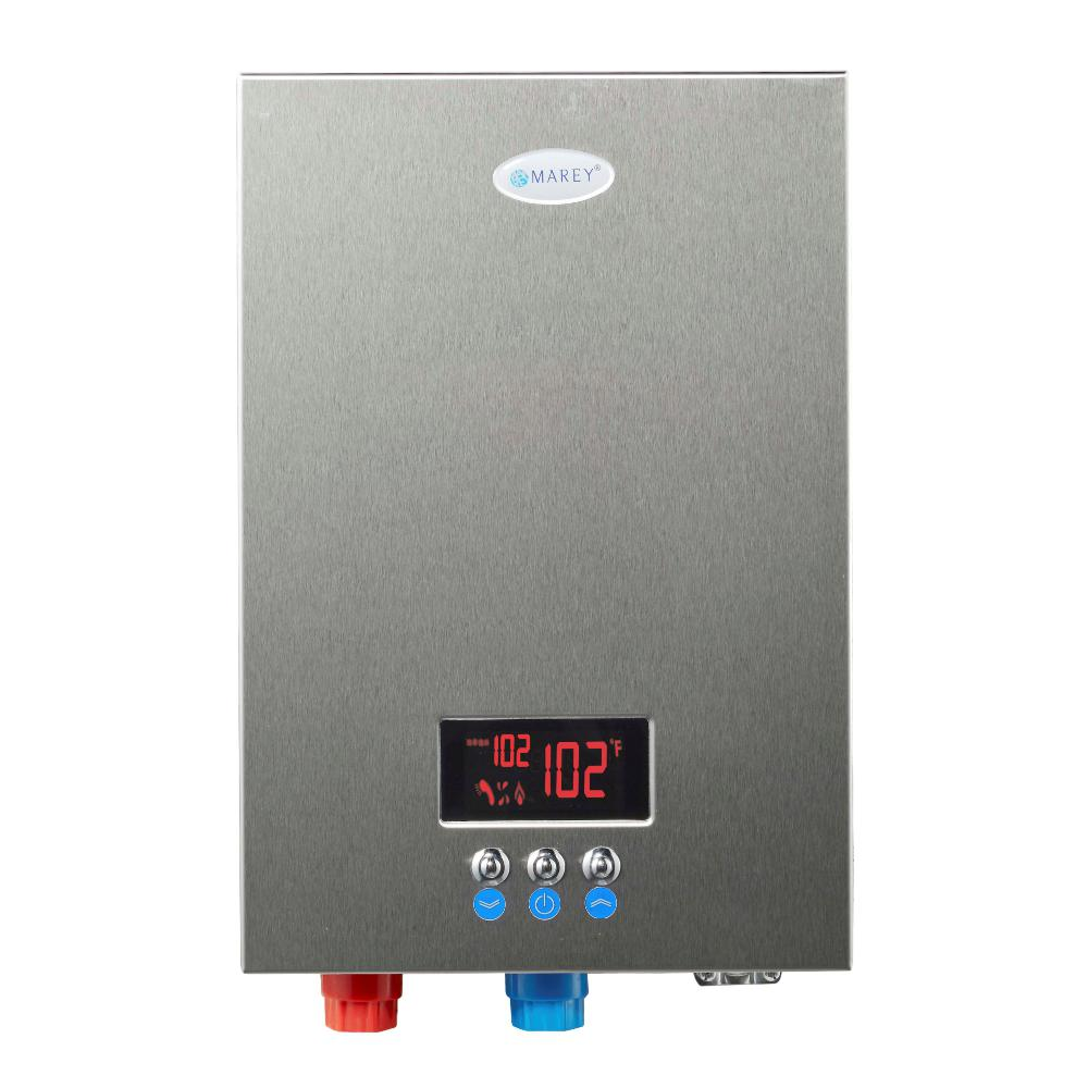 MAREY 27 kW, 6.5 GPM ETL Certified 220-Volt Self-Modulating Residential Multiple Points of Use Tankless Electric Water Heater