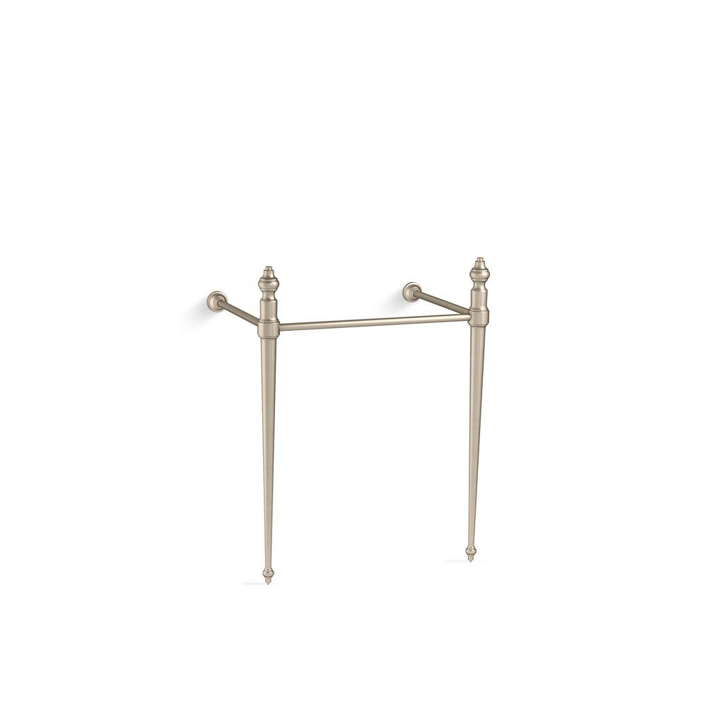 Memoirs Console Table Legs in Vibrant Brushed Bronze