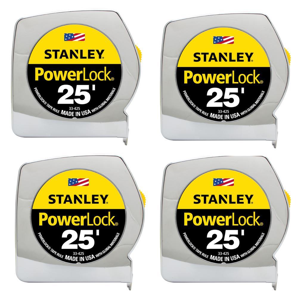 Stanley 25 ft. PowerLock Tape Measure (4-Pack)