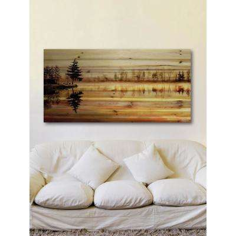 "30 in. H x 60 in. W ""Chanannes"" by Parvez Taj Printed Natural Pine Wood Wall Art"