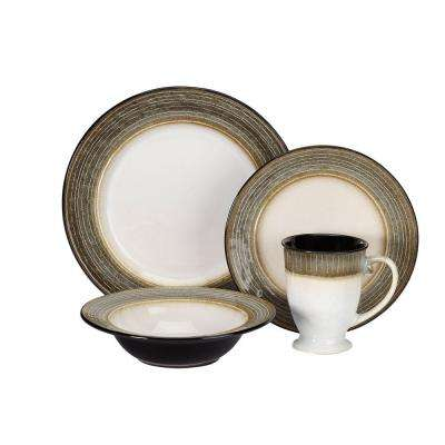 Loire Collection 16-Piece Dinnerware Set in Brown