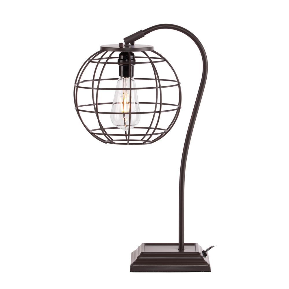 Prescott 23 in. Chocolate Colored Table Lamp