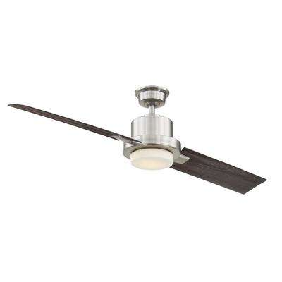 Radley 60 in. LED Brushed Nickel Ceiling Fan with Light