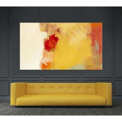 "48 in. x 84 in. ""Red Note"" by Diane Lambin Printed Framed Canvas Wall Art"