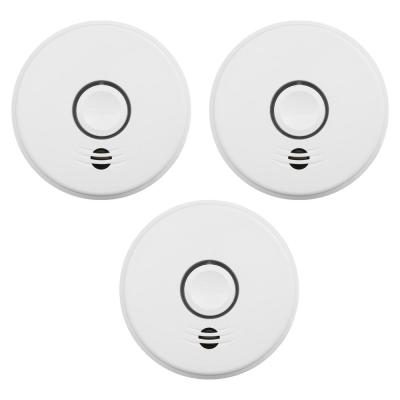 10-Year Sealed Battery Smoke Detector with Intelligent Wire-Free Voice Interconnect (3-Pack)