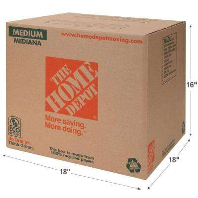 18 in. L x 18 in. W x 16 in. D Medium Box