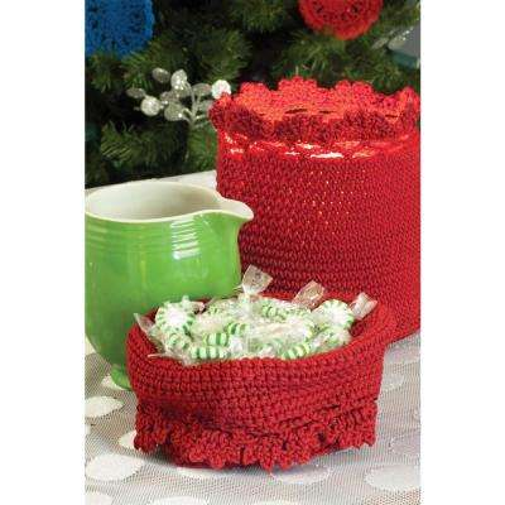 Mod Crochet Round Polypropylene Basket