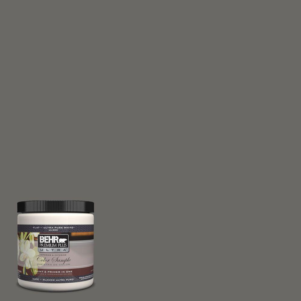 BEHR Premium Plus Ultra 8 oz. #UL200-2 Mined Coal Interior/Exterior Paint Sample