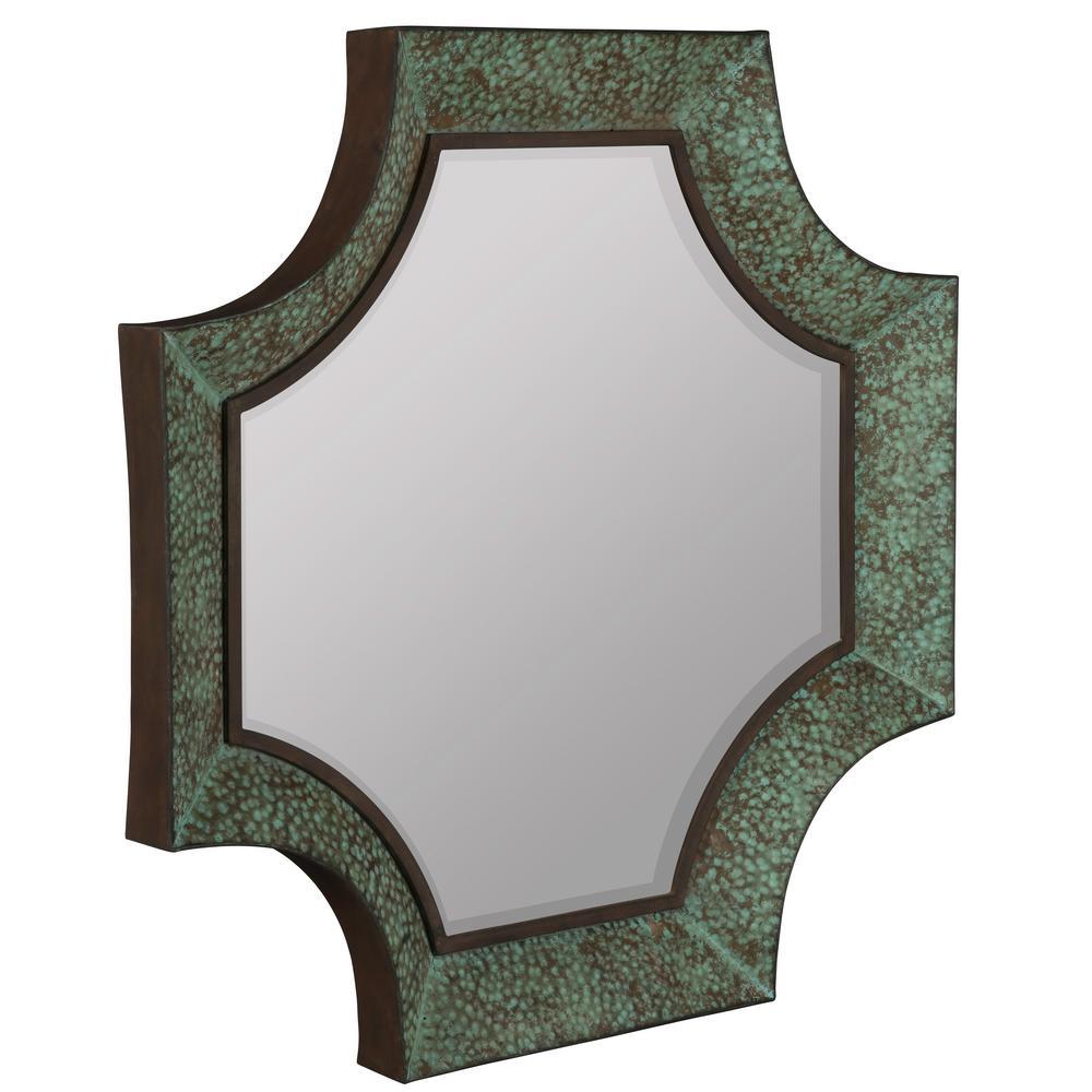 Esther Verdigris with Bronze Highlights Decorative Mirror