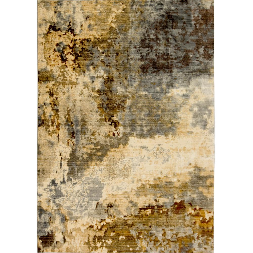 Home Dynamix Carlstadt Vintage Gray/Gold 47 In. X 71 In