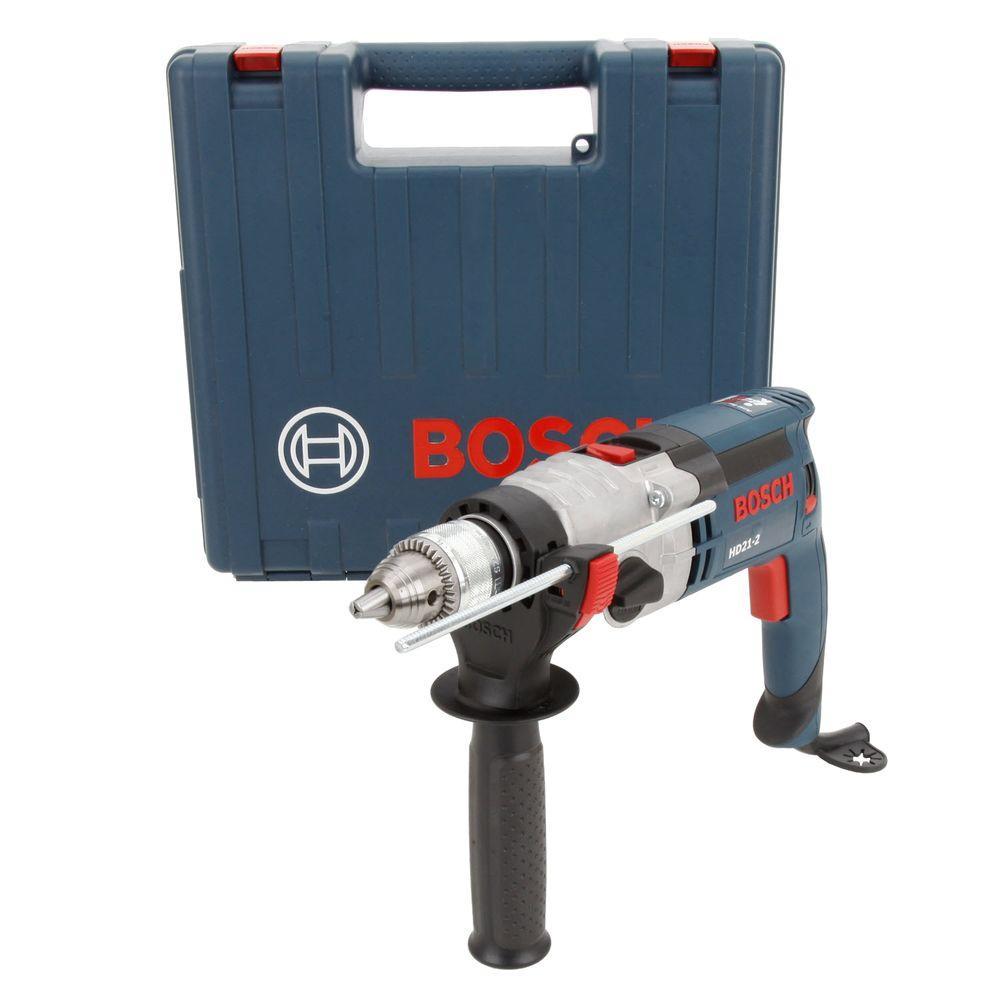 Bosch 8.5 Amp 1/2 in. Corded 2-Speed Hammer Drill Kit