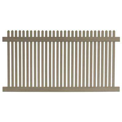 4 ft. H x 8 ft. W Cedar Grove Weathered Cedar Vinyl Picket Fence Panel
