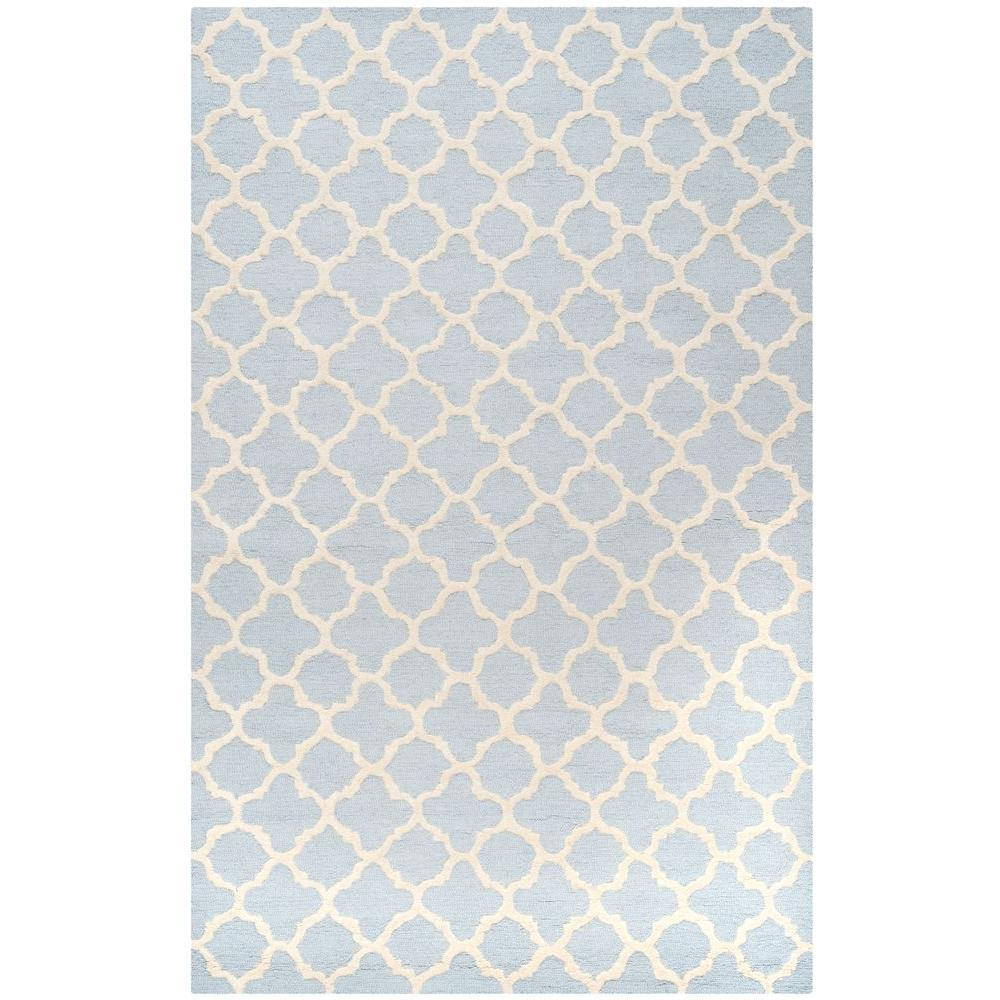 Safavieh Cambridge Light Blue Ivory 6 Ft X 9 Area Rug