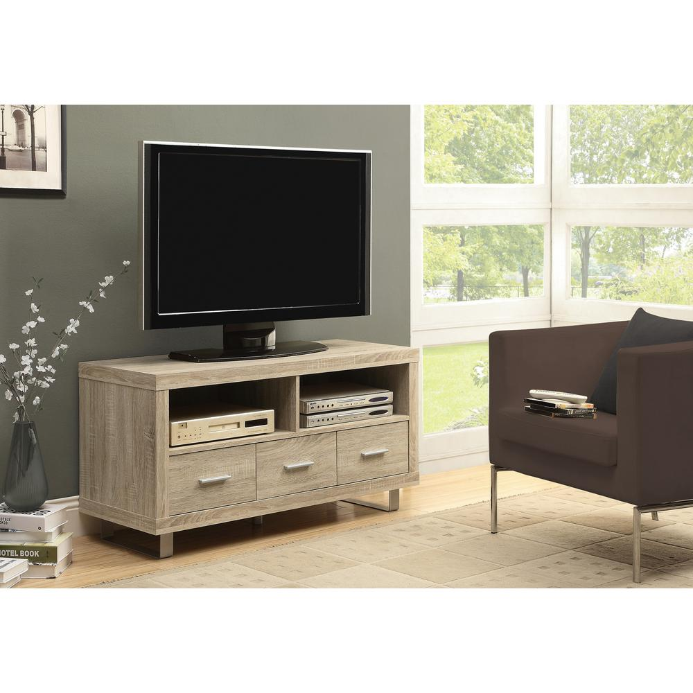 Monarch Specialties Natural Wood Entertainment Center
