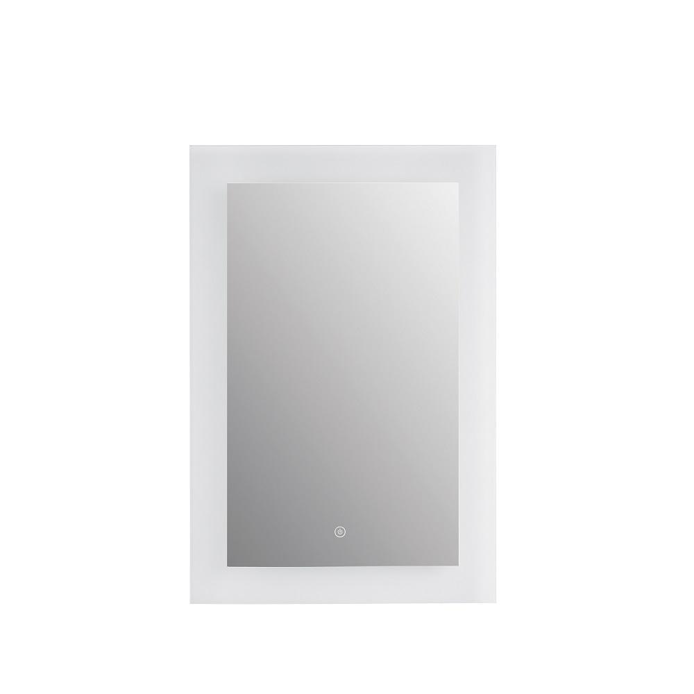 Addie 21.63 in. W x 30 in. H Single Rectangular LED Light Bathroom Vanity Mirror in Glass