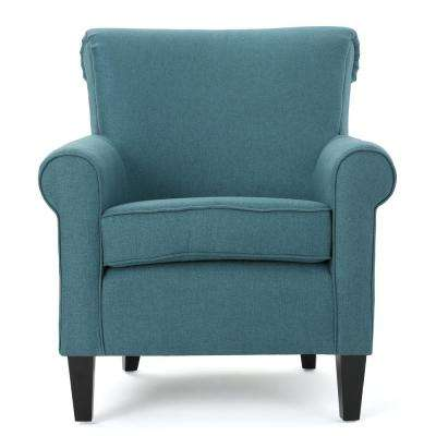 Roseville Dark Teal Fabric Club Chair