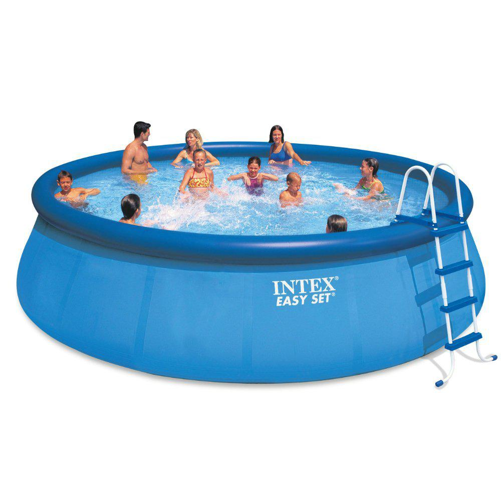 Intex Intex 18 ft. x 48 in. Inflatable Easy Set Above Ground Pool Set +  Filter Cartridge (6)