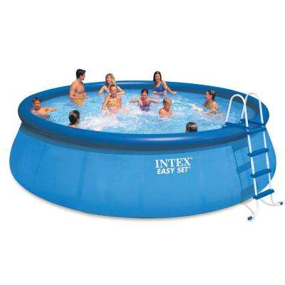 Intex 18 ft. x 48 in. Inflatable Easy Set Above Ground Pool Set + Filter Cartridge (6)