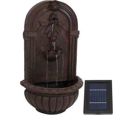 Florence Iron Lead Finish Solar Outdoor Wall Fountain