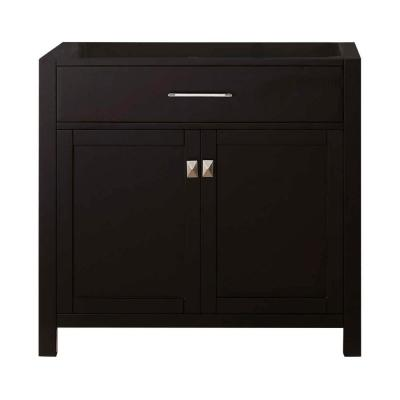 Caroline 36 in. W Bath Vanity Cabinet Only in Espresso