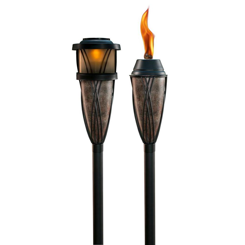 TIKI Flame and Solar Slate Torch (2-Pack)