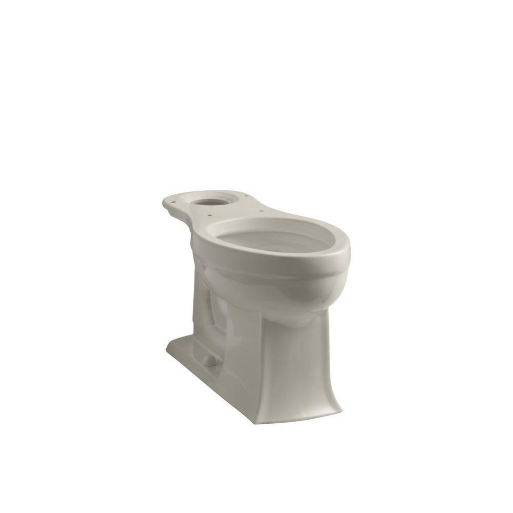 Magnificent Kohler Archer Comfort Height Elongated Toilet Bowl Only In Sandbar Machost Co Dining Chair Design Ideas Machostcouk
