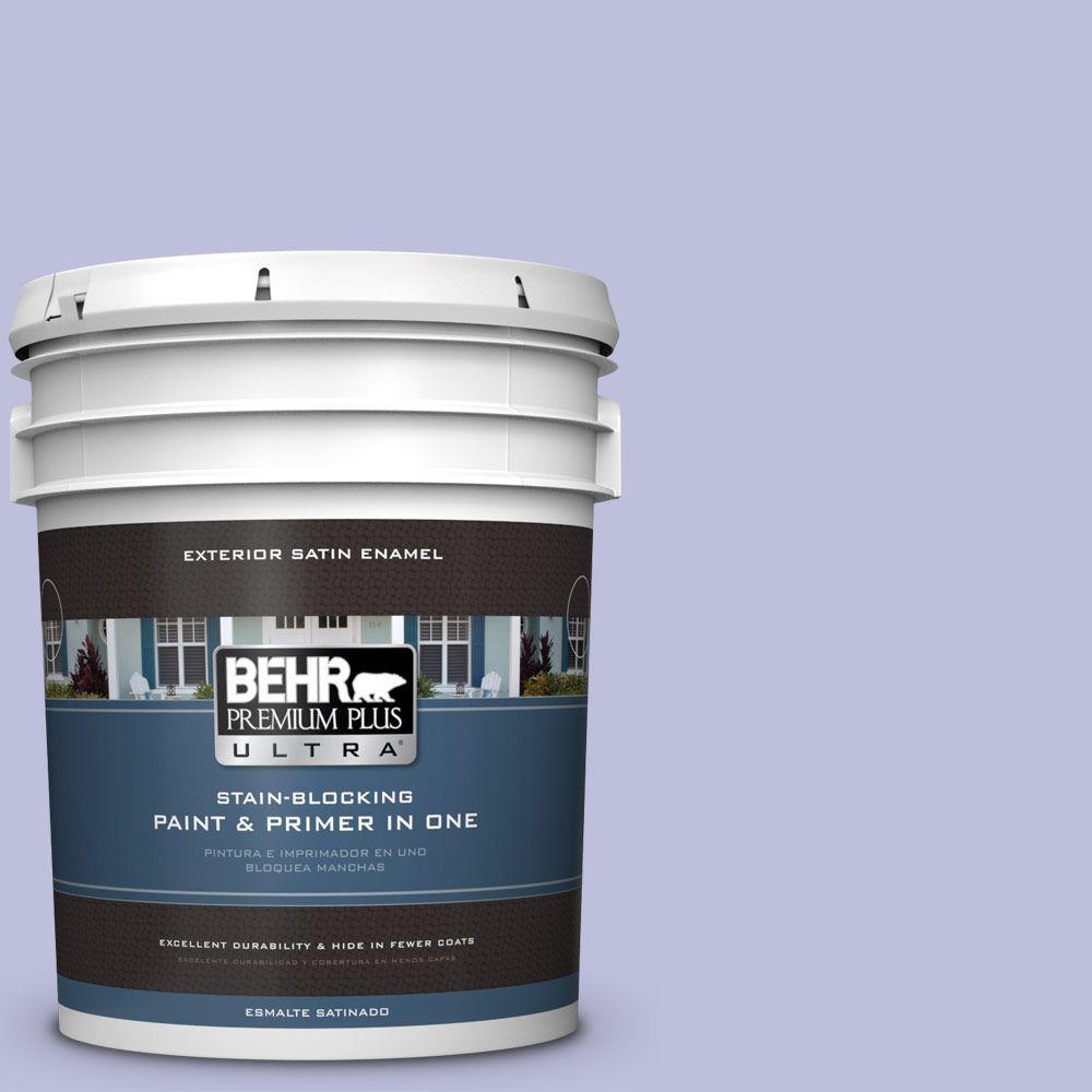 BEHR Premium Plus Ultra 5-gal. #610A-3 Lavender Sachet Satin Enamel Exterior Paint