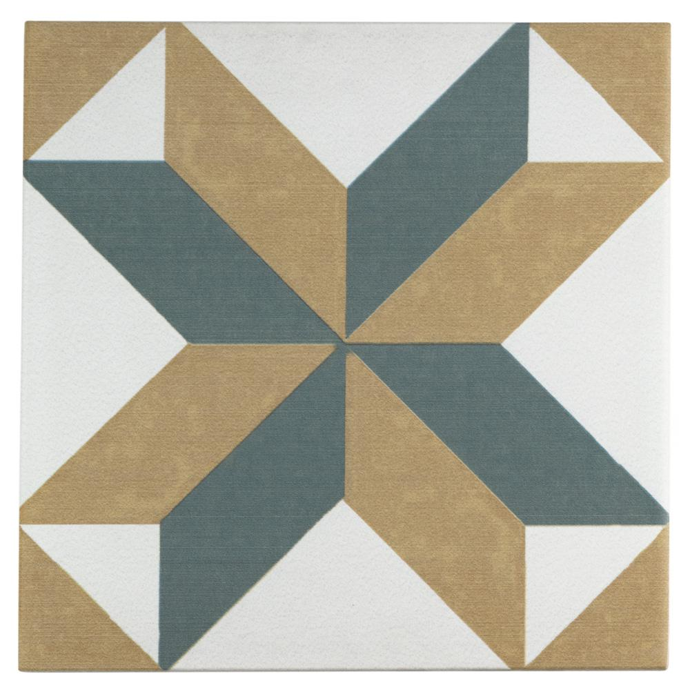 Merola Tile Revival Pattern Encaustic 7 3 4 In X