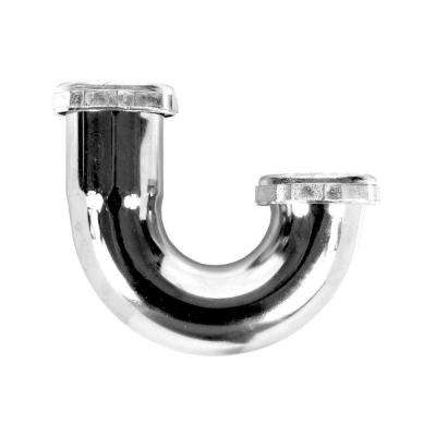 1-1/2 in. Brass J-Bend P-Trap, 22-Gauge, Chrome