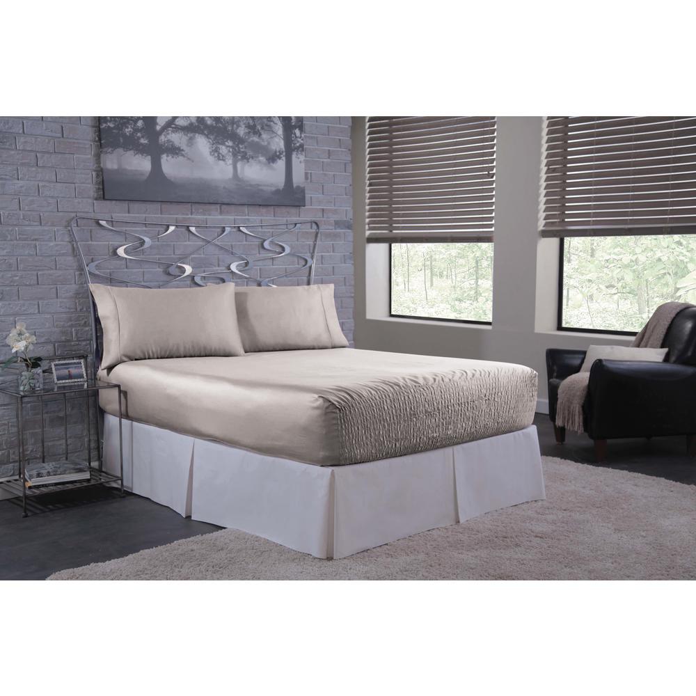 Bed Tite Satin Silver King Sheet Set